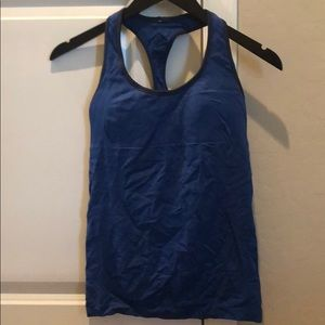 lululemon athletica Tops - Lululemon Racerback tank with built in bra size 6